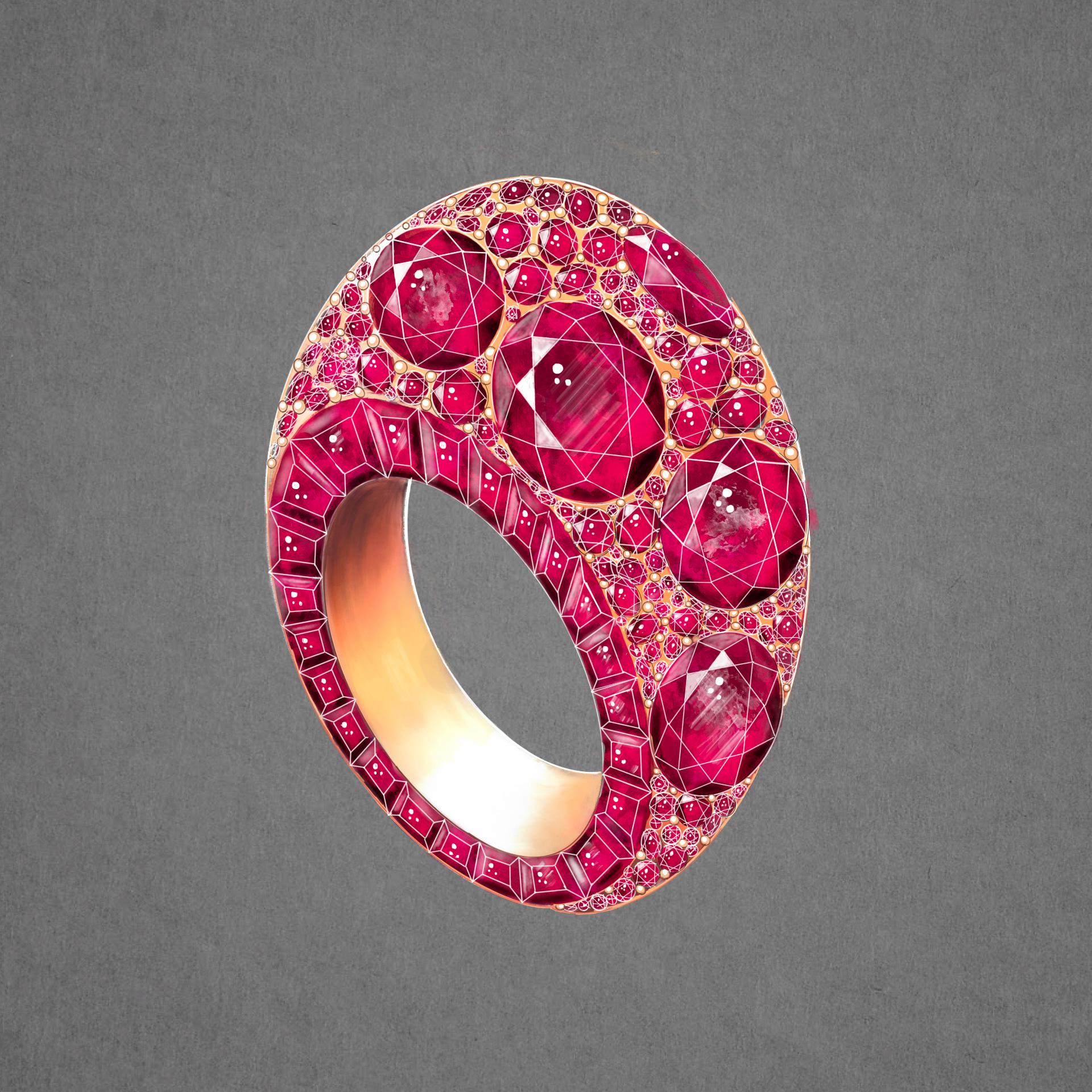 Bague or rose joaillier