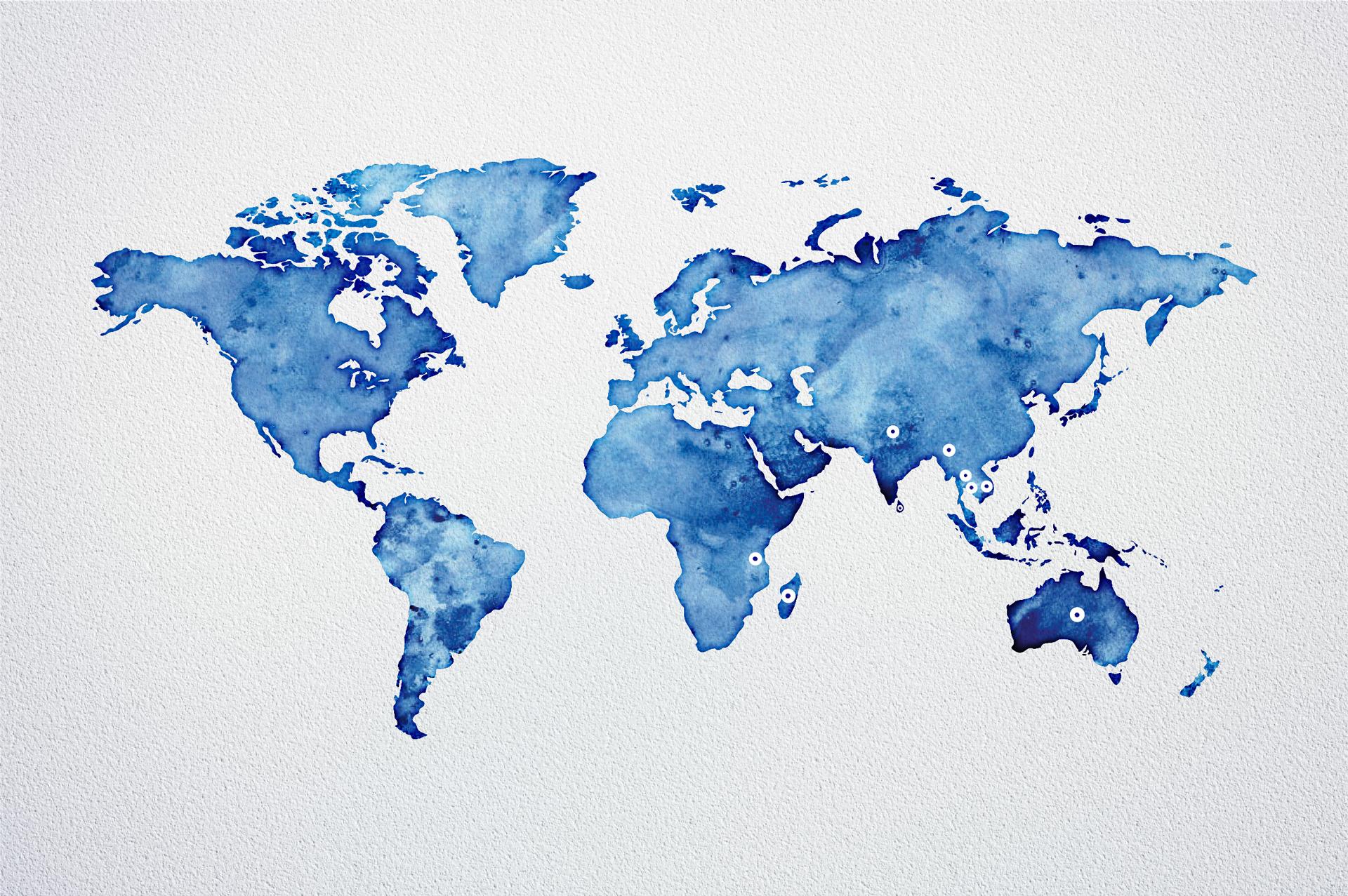 Production mondiale de saphir