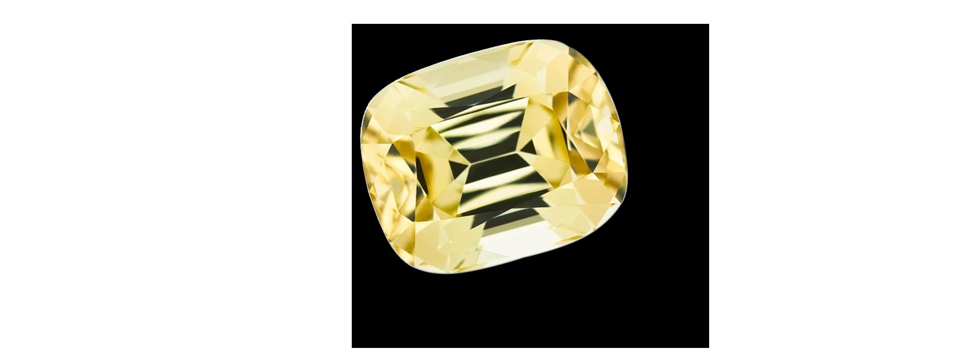 pierre tourmaline jaune